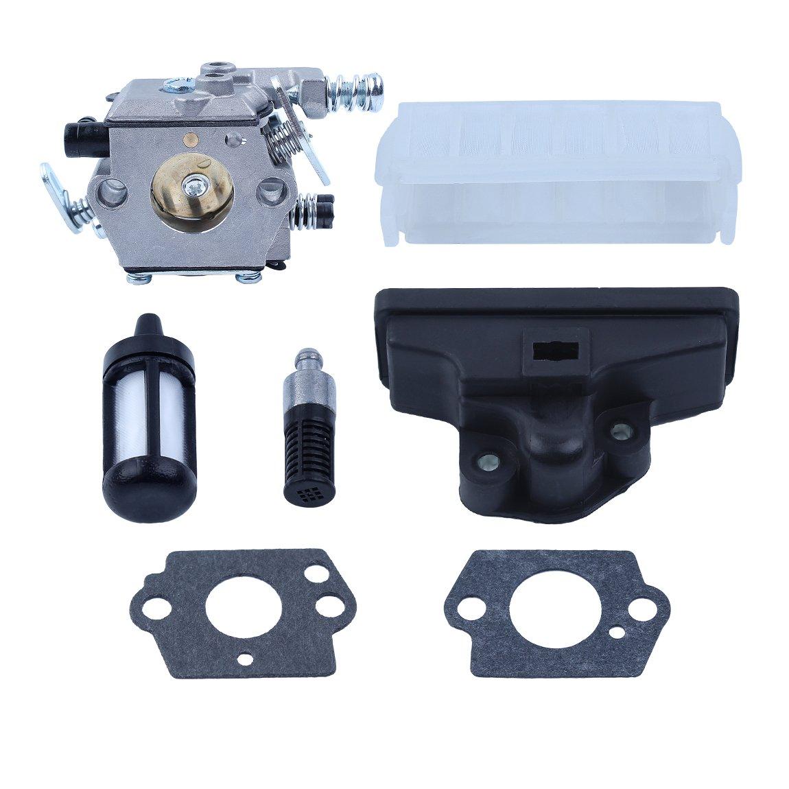 Haishine Carburateur Air Carburant Filtre /à Huile W//2PC Carb kit de Joints pour Stihl 021/023/025/MS210/MS230/MS250/tron/çonneuse de Remplacement de pi/èces de Rechange.