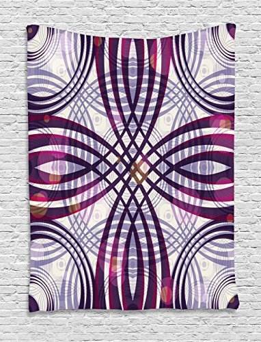 Art Nouveau Tapestry by Ambesonne, Geometric Groovy