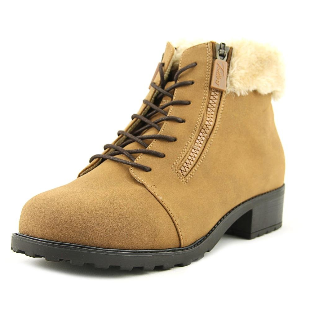 Trotters Women's Below Zero Ankle Bootie B01NCNEQPO 8.5 WW US|Chestnut/Natural Nubuck Pu Waterproof/Faux Fur
