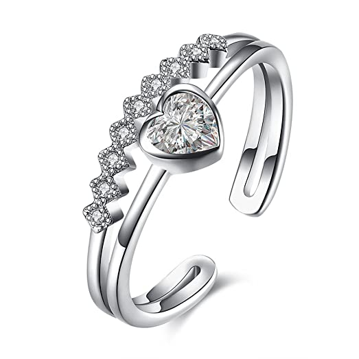 HMILYDYK 925 Sterling Silver Women Rose Detailed Rings Classic Vintage Flower Engagement Ajustable Band MnVJvzZLES