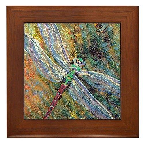 CafePress - Dragonfly - Framed Tile, Decorative Tile Wall Hanging