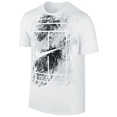 T Blanc Dry L Shirt Nike Court Été 2017 Logo PwraRPq