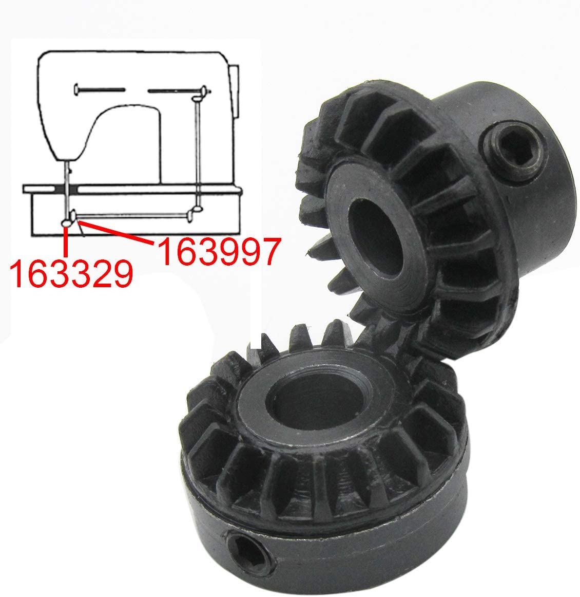 CKPSMS brand 1SET #163997+163329 Replacement Hook gear FIT FOR SINGER 625,626,628,629,630,645,648 /&700 series