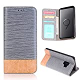 Samsung S9 Case,Galaxy S9 Wallet Case,FLYEE Ultra Thin Slim Folio Cover PU Leather Magnetic Protective Cover with Credit Card Slots, Cash Pocket,Stand Holder for Samsung Galaxy S9 5.8 inch Gray