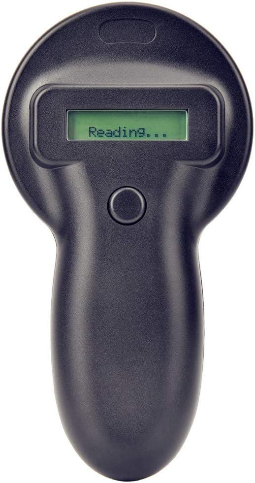 Lector de etiquetas de animales portátil microchip portátil para mascotas, escáner de animales electrónico de 134,2 KHz