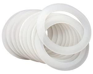 Platinum Silicone Sealing Rings Gaskets for Leak Proof Mason Jar Lids (10 Pack, Regular Mouth)