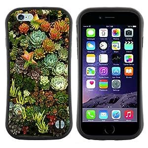 """Hypernova Slim Fit Dual Barniz Protector Caso Case Funda Para Apple (5.5 inches!!!) iPhone 6 Plus / 6S Plus ( 5.5 ) [Flores Naturaleza Floral Green Garden""""]"""