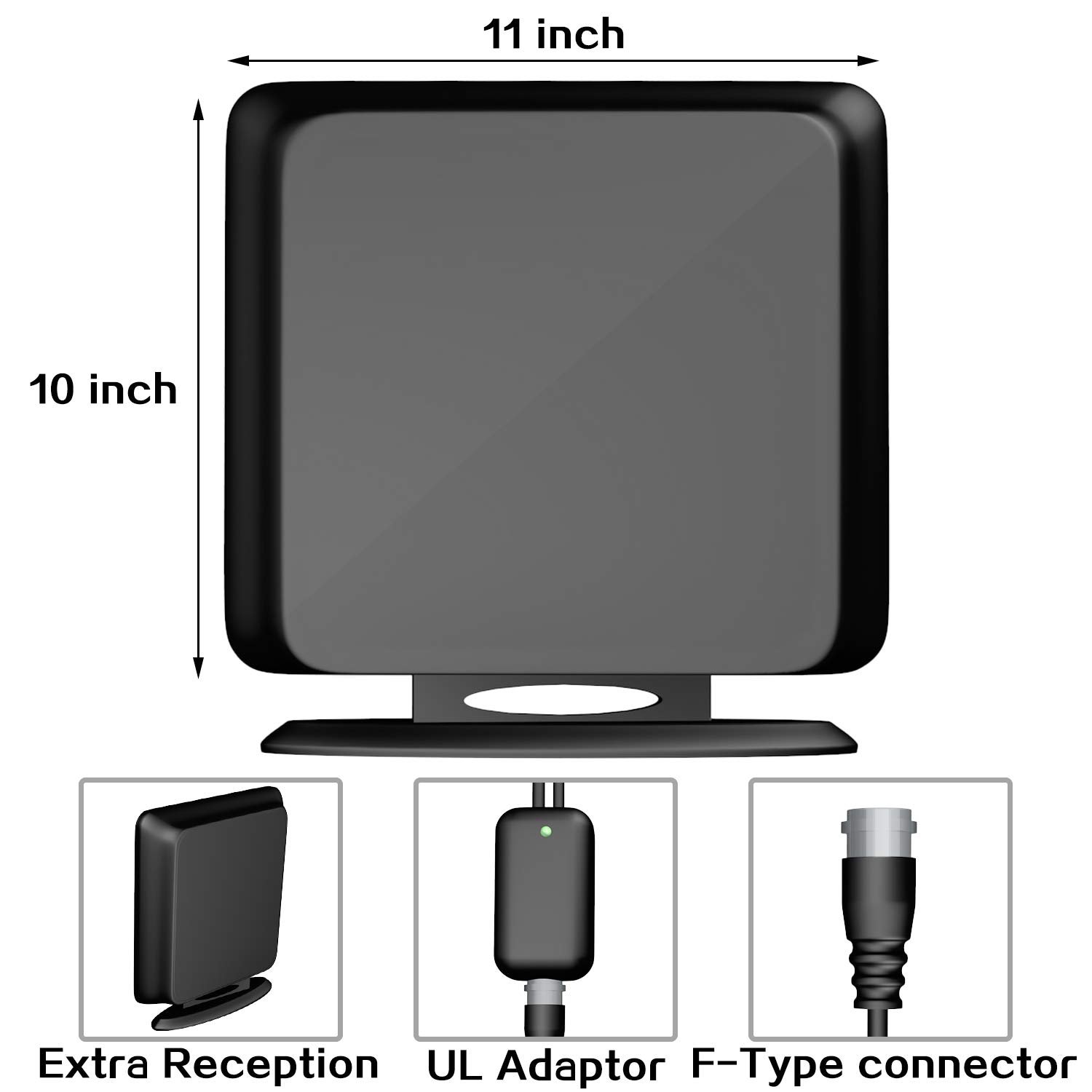 138+Miles Indoor HD Digital TV Antenna Amplified HDTV Antenna High Reception Amplifier Antenna for TV Signals for All Older TVs Reception 4K//VHF//UHF//1080P Free Channels 13ft Coax