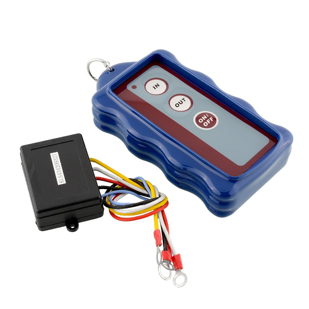 12V Wireless Remote Control Kit Blue for Car Truck Jeep ATV Vehicle Winch 50FT Hongfei 44721-Hon017673