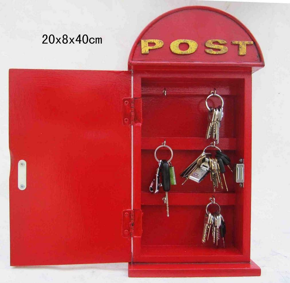 Cassetta portachiavi in stile retrò vintageMailbox – rosso CristalRay PREMIUM