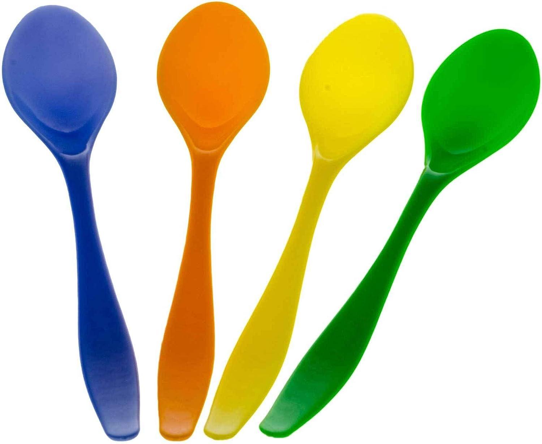 SIDCO Eierl/öffel Kunststoff 12 Fr/ühst/ücksl/öffel Dessertl/öffel Plastikl/öffel Babyl/öffel