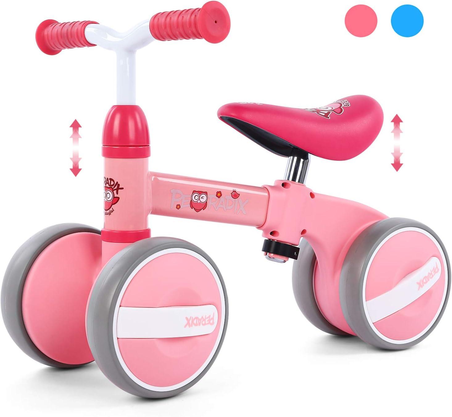 Peradix Bicicleta Sin Pedales para Niños y Niñas Bici Bebe,Bicicletas Bebe sin Pedales,Bicicleta Bebe 1 año,Bicicleta Bebe 1 año Pedales de Forma Favorito del Niño