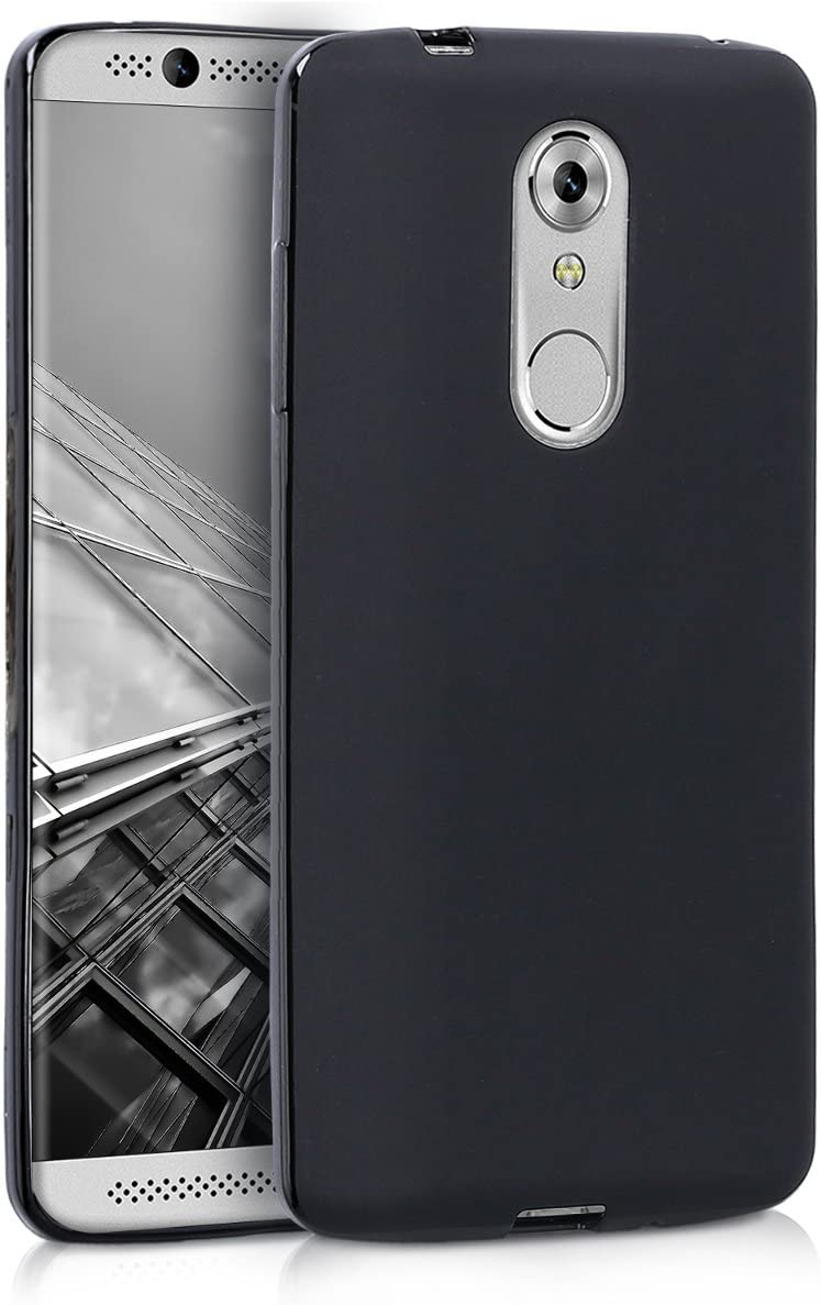 kwmobile TPU Silicone Case Compatible with ZTE Axon 7 Mini - Soft Flexible Protective Phone Cover - Black Matte