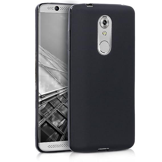 kwmobile Funda para ZTE Axon 7 Mini - Carcasa para móvil en TPU Silicona - Protector Trasero en Negro Mate