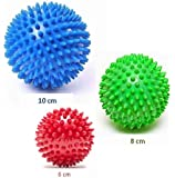 FitEthic - Spiky Massage Balls For Stress Relief, PACK OF 3, Reflexology, Trigger Point Therapy, Plantar Fasciitis, Myofascial Release, Pain Relief, Exercise Lacrosse Ball, Environmental Friendly plastic, PAH & Phthalates Free - by FitEthic