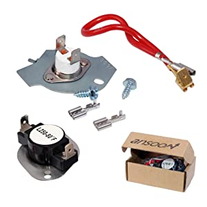 279816 Dryer Thermostat Kit for Whirlpool, Kenmore Dryers Replaces AP3094244 3399848 3977393