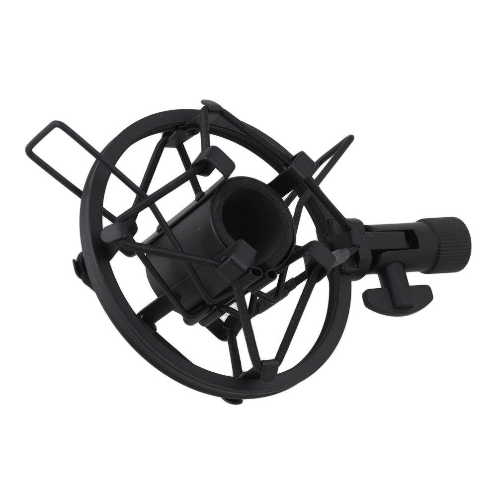 BQLZR Black Mic Shock Mount For Small Diameter Microphone 22mm-24mm