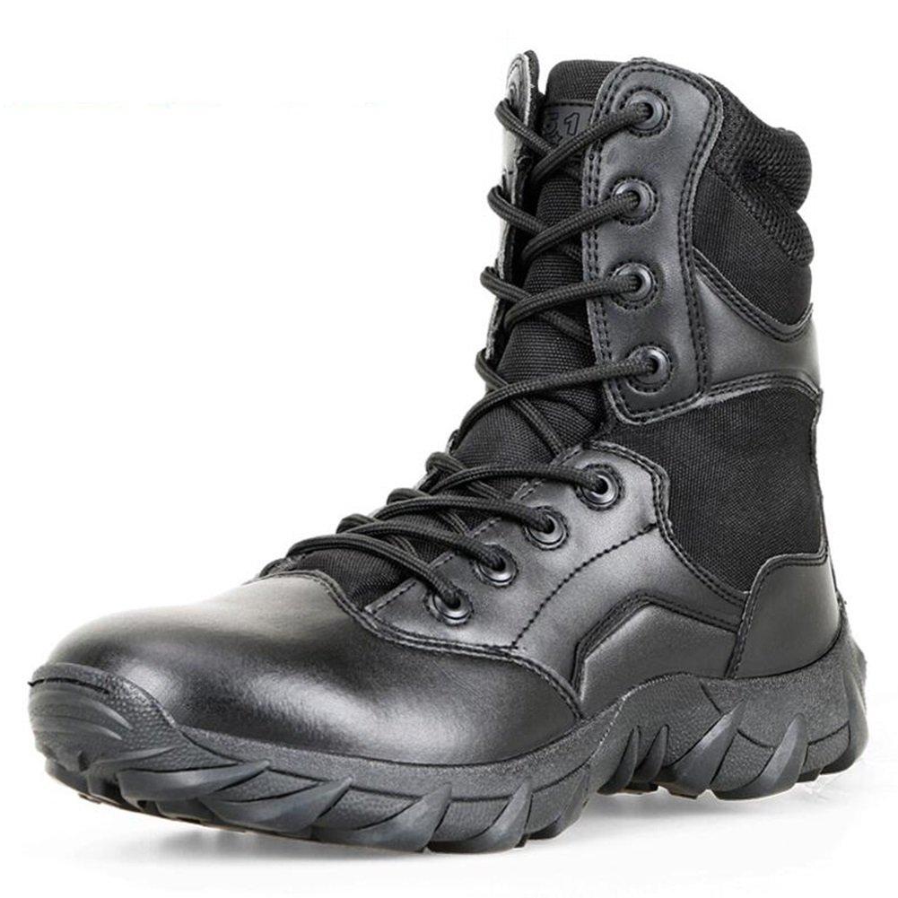 SUN Amerikanische PU-Militärstiefel Desert Stiefel Outdoor Stiefel Tooling Stiefel Schwarz (größe   EU42 UK8.5 CN43)