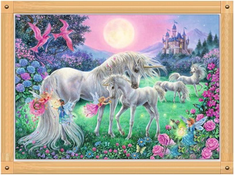 ULTNICE 5D Kit de Diamant Peinture Licorne Broderie Peinture Point De Croix D/écoration Murale