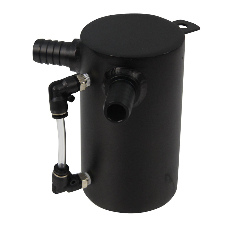 ALLOYWORKS 0.5L Aluminum Oil Catch Can Breather Tank Reservior Black for JP