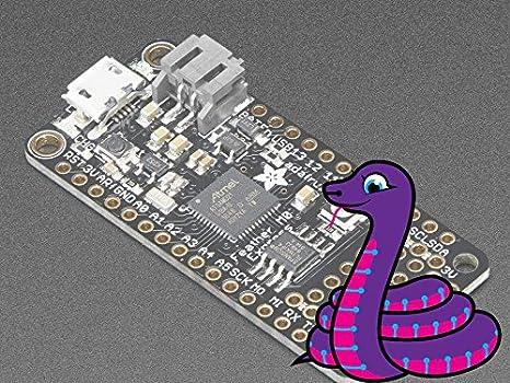 Adafruit (PID 3403) Feather M0 Express - Designed for CircuitPython -  ATSAMD21 Cortex M0
