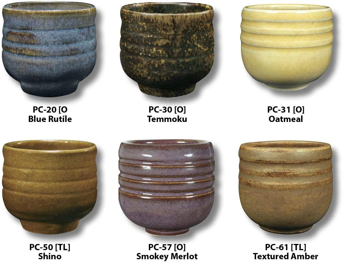 AMACO 39182X Potters Choice Glazes, Set A, 1 Pint, Assorted Colors, Set of 6