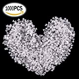eBoot 1000 Pieces Clear Rubber Bullet Clutch Earring Safety Backs