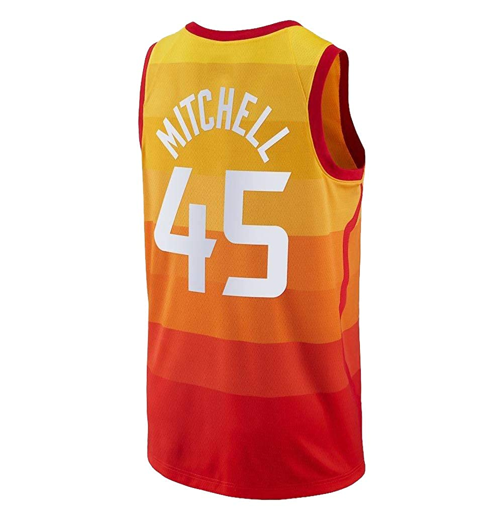 7fa3c99e7 Amazon.com  OuyeCHs Men s Utah  45 Donovan Mitchell Orange Jersey  Basketball Jersey Replica Player Jersey Fans Jerseys (Large)  Clothing