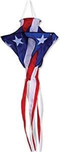 Premier Kites Patriotic Star Twister Wind Spinner | American Flag Windsock Spinner for Patriotic Outdoor Decorations | Hanging Wind Spinners for Your Home and A Great Camper Windsock, 30 Inches