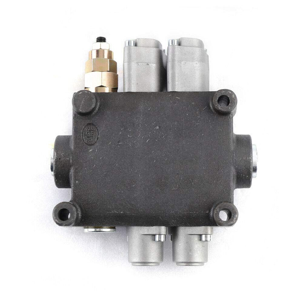2 Spool 3000PSI 90L//min ZT-L20-2 Monoblock Directional Control Valve 25GPM Double Acting Monoblock for Tractor Loader USA Stock