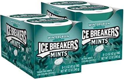 Ice Breakers Sugar Free Mints Wintergreen 1 5 Ounce Containers Pack Of 16 Amazon Ca Grocery