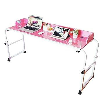 Mesa móvil para la cama de Ybaymy, ajustable, 1,2 m, mueble con ruedas; estación de trabajo para casas, para ordenadores portátiles: Amazon.es: Salud y ...