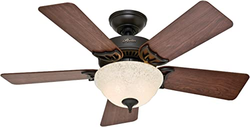 Hunter Kensington Indoor Ceiling Fan with LED Light and Pull Chain Control