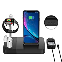 Amazon.com deals on Olahtek 3-in-1 Wireless Charger Station for Apple