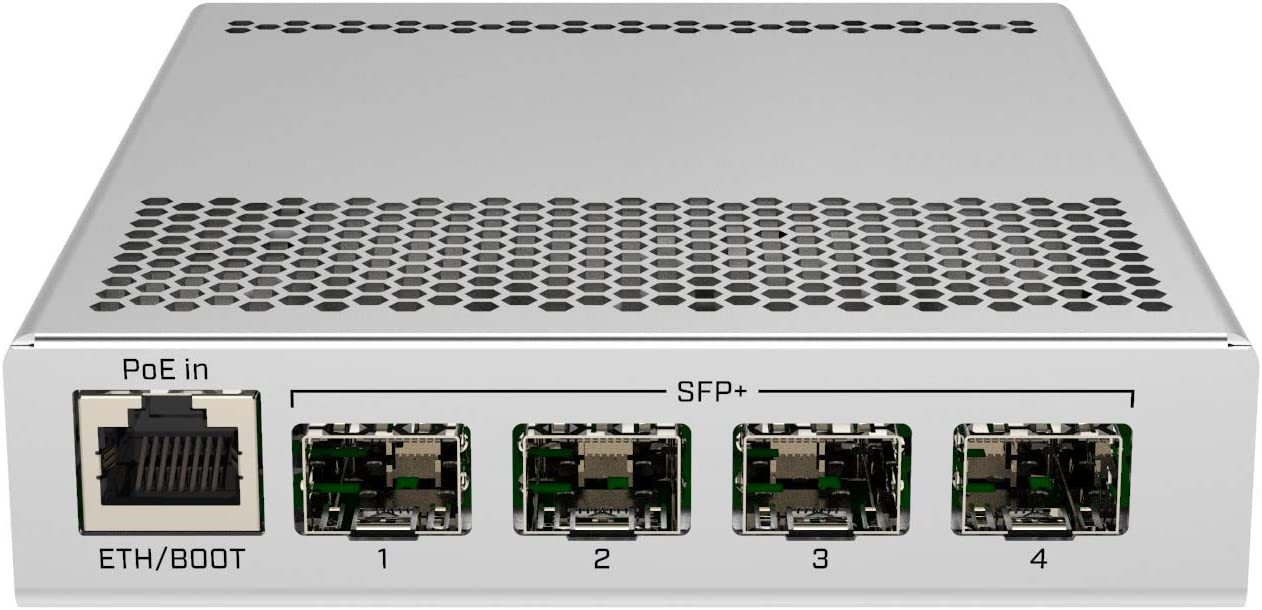 MikroTik CRS305-1G-4S+in Switch 1x Gigabit Ethernet Port and 4X SFP 10Gbps Ports RouterOS or SwOS