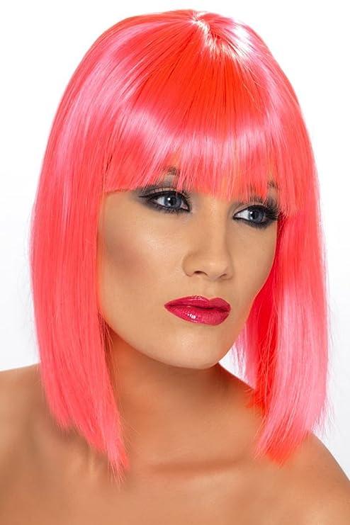 Smiffys - peluca rosa glamour