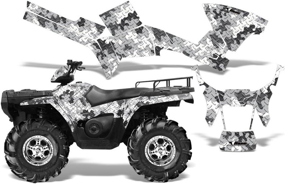 AMR Racing Graphics Kit for ATV Polaris Sportsman 400//500//600//700//800 2005-2010 CAMOPLATE BLACK