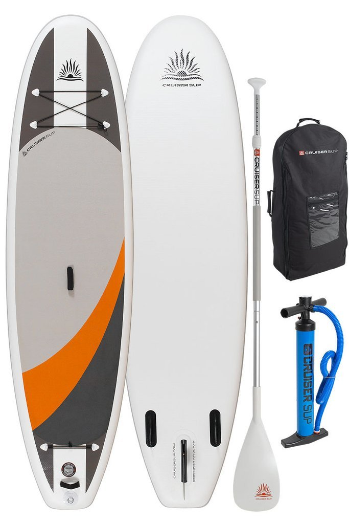 Cruiser SUP Crossover Air DL 10'8'' Inflatable Stand Up Paddle Board | All Around Performance | Supports up to 230 Pounds | Includes Dual Action Pump, Wheeled Bag, Fins, and Travel Paddle