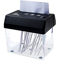 DivineXt Mini Desktop Paper Shredder Machine Dual Powered (Battery / USB) A5 Size (115mm) Half A4. With Letter Opener.