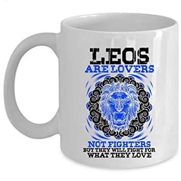 Amazon com: They Will Fight For What They Love Coffee Mug, Leos Are