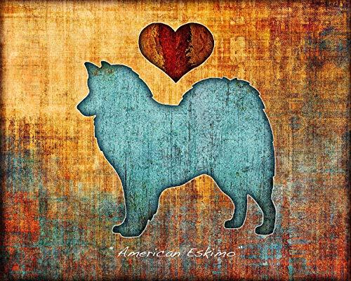 American Eskimo Dog Breed Art Print by Dan - American Eskimo Breeder