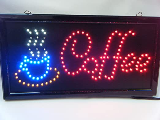 Cartel Colgante Café Cafeteria Super Brillante Luz LED Neón ...