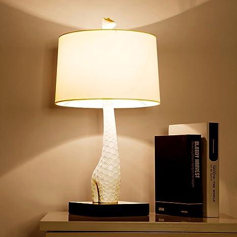 Moderna jirafa lámpara de mesa Nordic Concise Blanco Noche ...