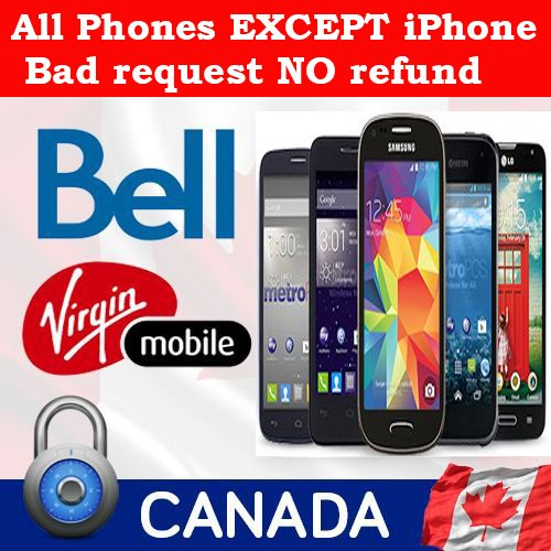 Bell Mobility, Virgin & Solo Mobile Canada - All Models without iPhone (Bell Mobility Canada compare prices)