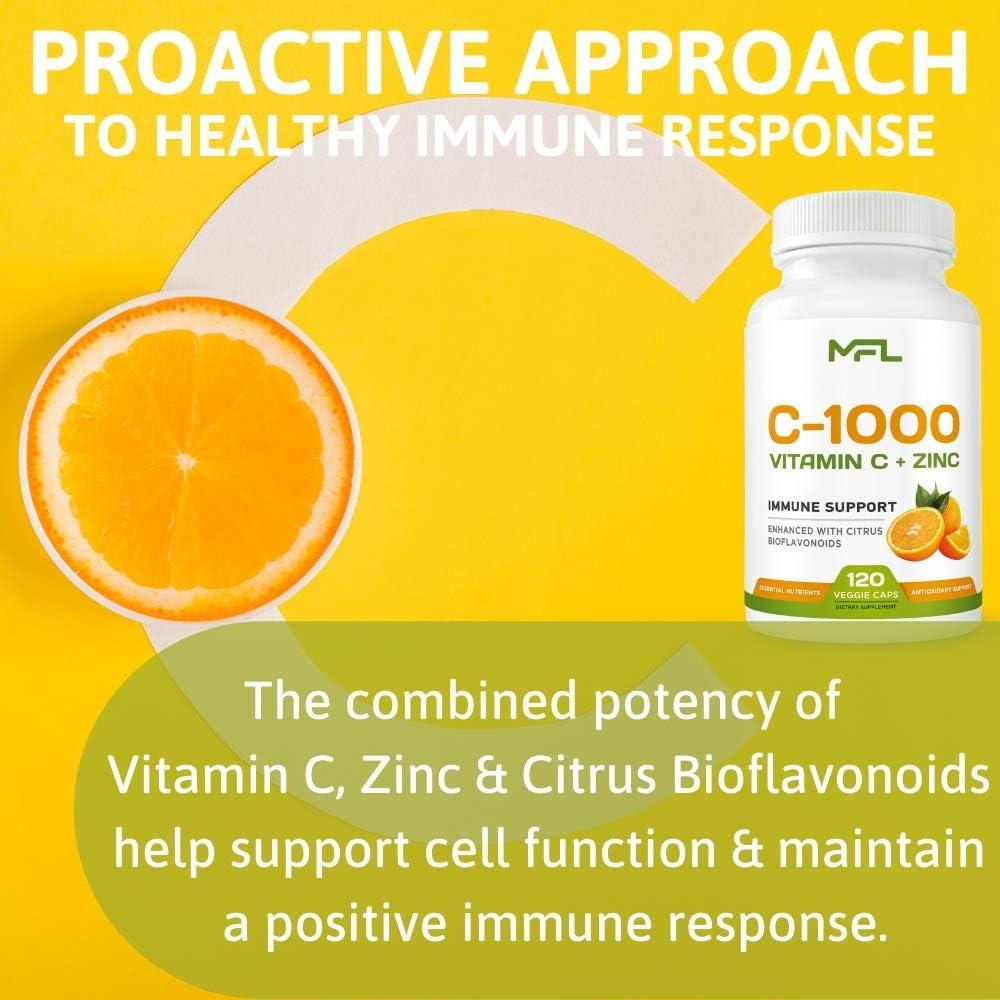 Vitamin Antioxidant MLO Nutrition Green Series Vitamin C 1000 Zinc 90 Tabl
