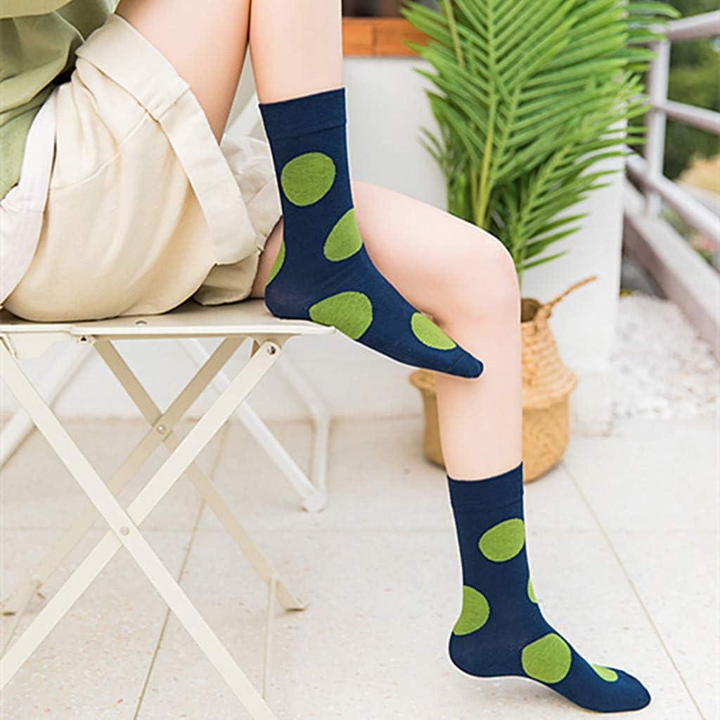 A-Artist Damen Socken L/ässige Paarsocken aus Baumwolle mit trendigem Wellenmuster