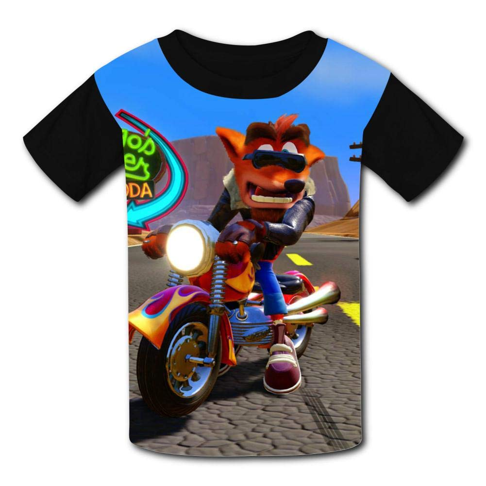 MOEYBOR Crash-Bandi-Coot Motorcycles T-Shirts,Fashion Summer Tee for Kids//Teen//Boys//Girls