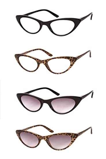 a77ca17d3feb Amazon.com  The Brit and The Ashlee Cat Eye Reading Glasses Sun ...