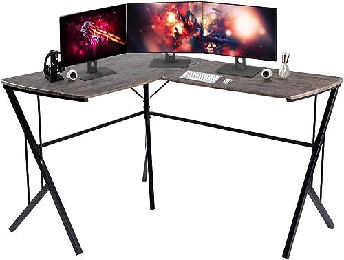 GreenForest Corner Desk L Shaped Computer Gaming Desk