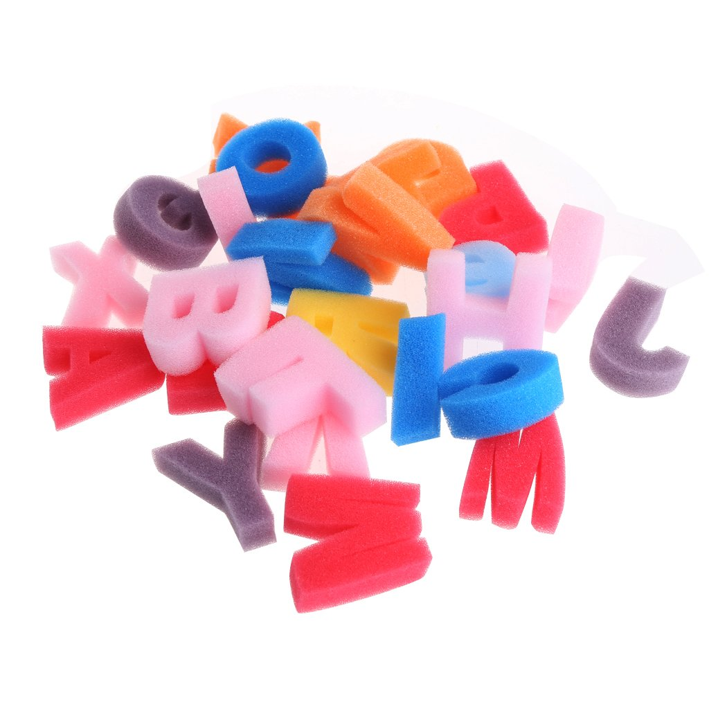 Shaoge Alphabet Shaped Sponge 26 Letter Set Children Kids Craft Painting Toy Education